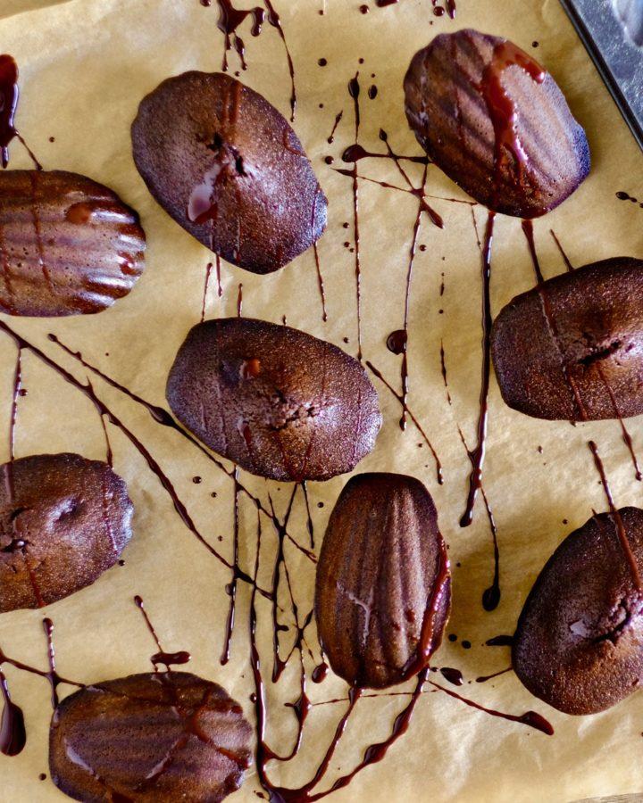 Brown Butter Chocolate Madeleines